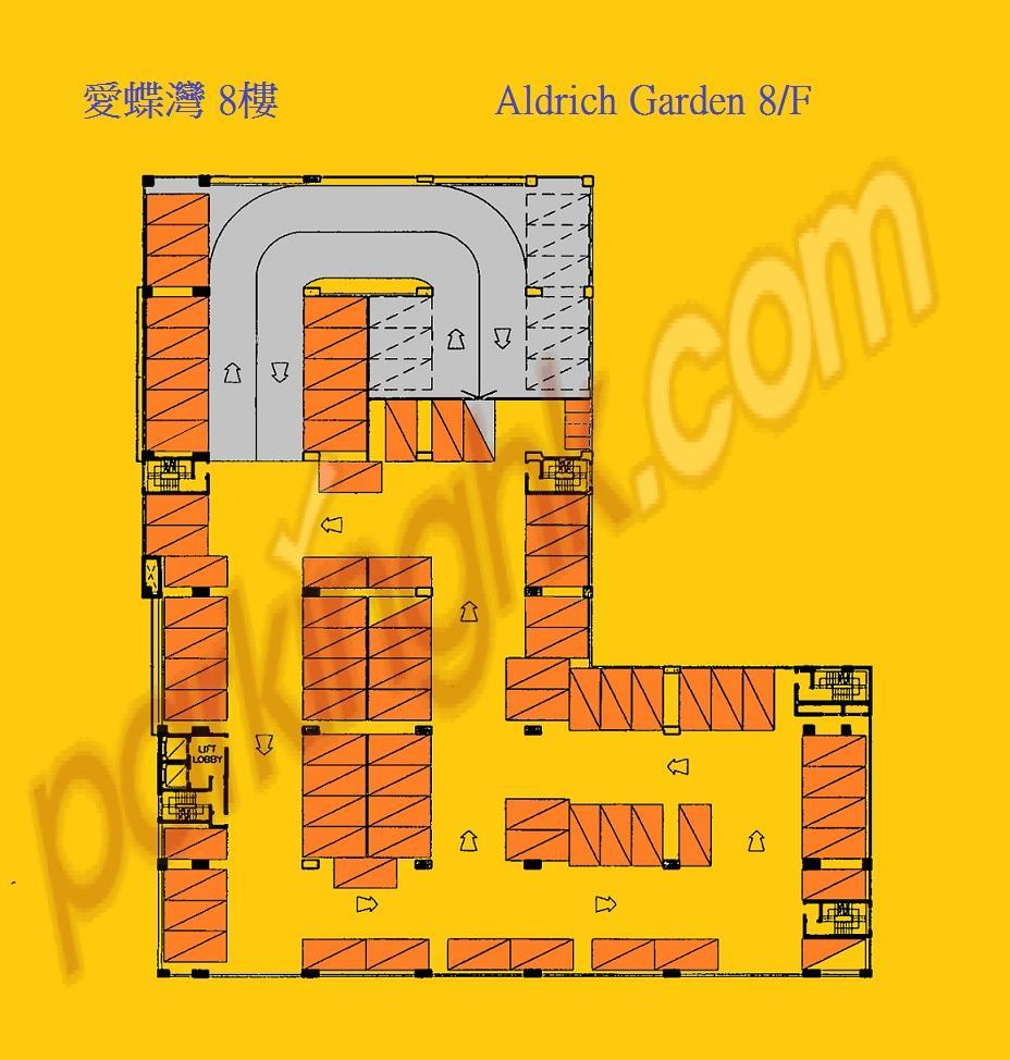 筲箕灣車位 愛禮街 愛蝶灣 平面圖 香港車位.com ParkingHK.com