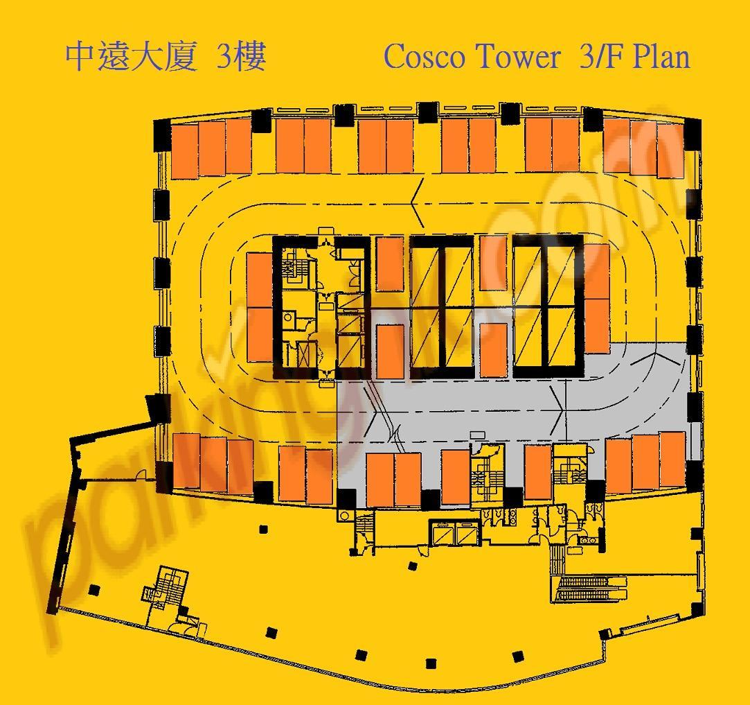 Ocean Shores Floor Plan 上環車位 中遠大廈 香港車位 Com